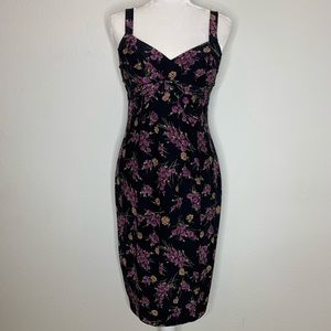 Betsey Johnson Silk Floral Sheath Dress